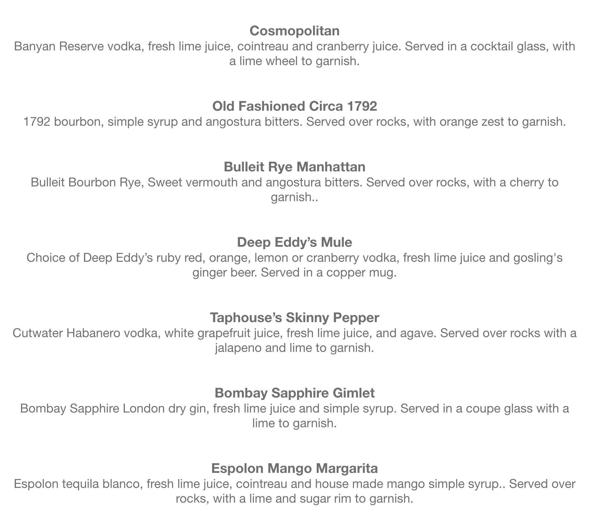 May Cocktail menu- TH61