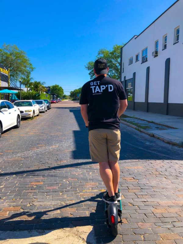 taphouse 61 t-shirt - backview - scooter - fullview